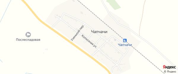Переулок Некрасова на карте поселка Чапчачи с номерами домов