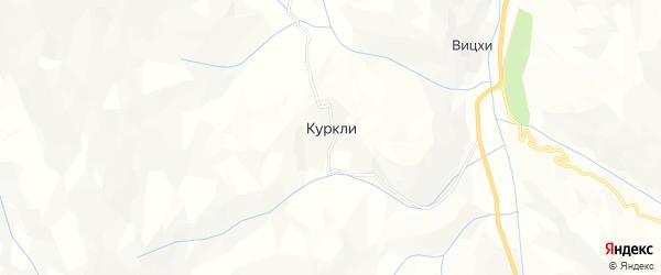 Карта села Куркли в Дагестане с улицами и номерами домов