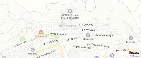 Улица Кутузова на карте Буйнакска с номерами домов
