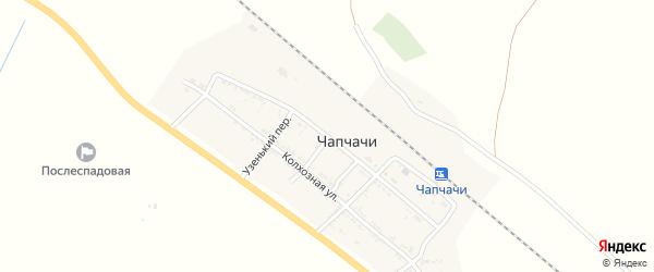 Железнодорожная улица на карте поселка Чапчачи Астраханской области с номерами домов
