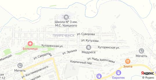 Улица Чапаева в Буйнакске с номерами домов на карте. Спутник и схема онлайн