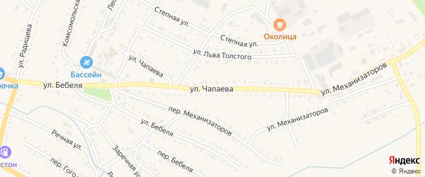 Улица Чапаева на карте Барыша с номерами домов