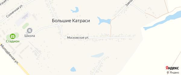Московская улица на карте деревни Большие Катраси с номерами домов