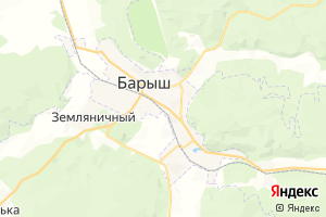 Карта г. Барыш Ульяновская область