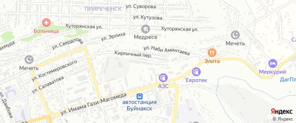 Улица Им Василия Хруцкого на карте Буйнакска с номерами домов