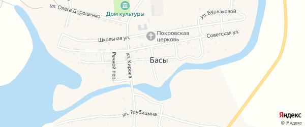 Кузнечный переулок на карте села Басы Астраханской области с номерами домов