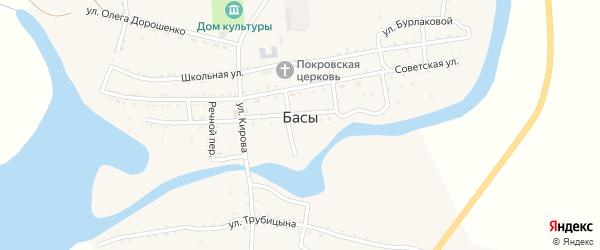 Комсомольская улица на карте села Басы Астраханской области с номерами домов