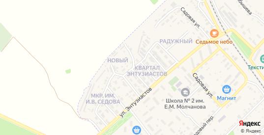 Новый микрорайон в Барыше с номерами домов на карте. Спутник и схема онлайн