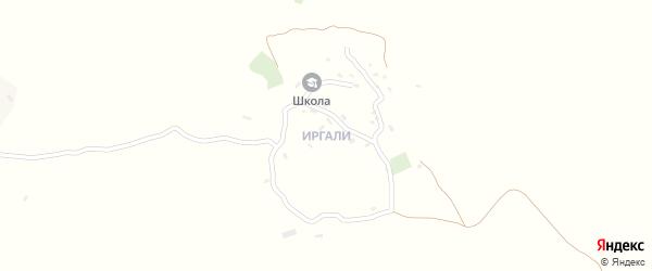 Иргалинская улица на карте хутора Иргали Дагестана с номерами домов