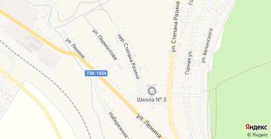 Переулок Степана Разина в Барыше с номерами домов на карте. Спутник и схема онлайн