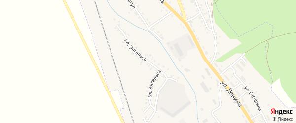 Переулок Ф.Энгельса на карте Барыша с номерами домов