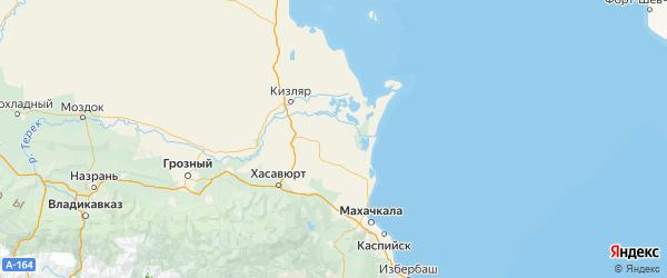 Карта Бабаюртовского района Республики Дагестана с городами и населенными пунктами
