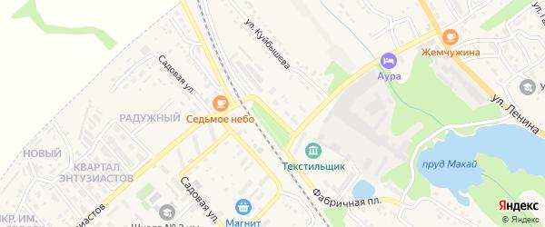 Улица Горького на карте Барыша с номерами домов