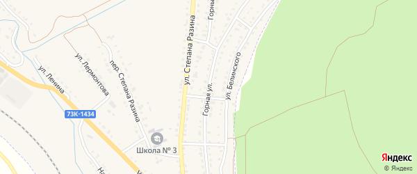 Горная улица на карте Барыша с номерами домов