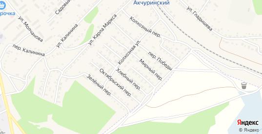 Безымянный переулок в Барыше с номерами домов на карте. Спутник и схема онлайн