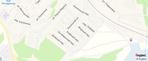 Безымянный переулок на карте Барыша с номерами домов