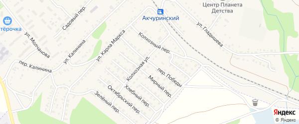 Переулок Победы на карте Барыша с номерами домов