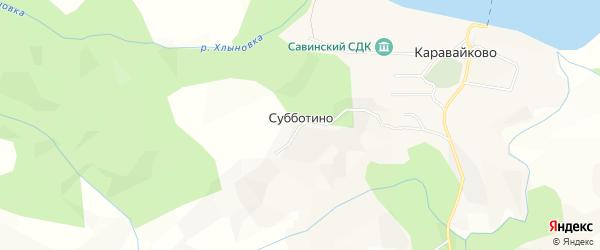 Карта деревни Субботино в Кировской области с улицами и номерами домов