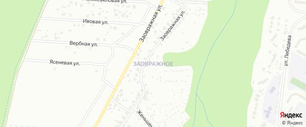 Территория сдт Заовражное на карте Чебоксар с номерами домов