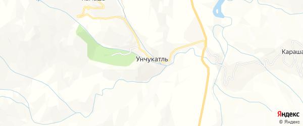 Карта села Унчукатля в Дагестане с улицами и номерами домов