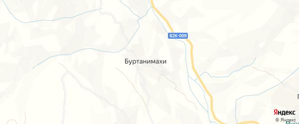 Карта села Буртанимахи в Дагестане с улицами и номерами домов