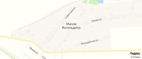Молодежная улица на карте деревни Малое Янгильдино с номерами домов