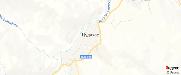 Карта села Цудахара в Дагестане с улицами и номерами домов
