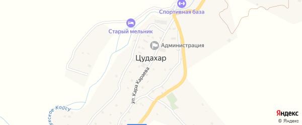 Улица Магомеда Абдулкеримова на карте села Цудахара Дагестана с номерами домов