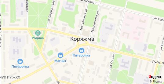 Майская улица в СНТ Садоводы Севера сад N4 в Коряжме с номерами домов на карте. Спутник и схема онлайн