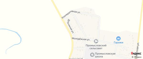 Дорожная улица на карте села Промысловки Астраханской области с номерами домов