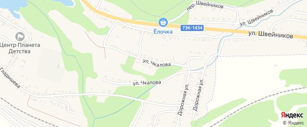 Улица Чкалова на карте Барыша с номерами домов