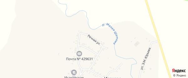 Речная улица на карте села Исаково с номерами домов