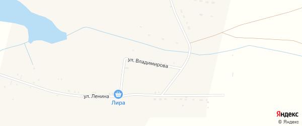Улица Владимирова на карте Караванного села Астраханской области с номерами домов