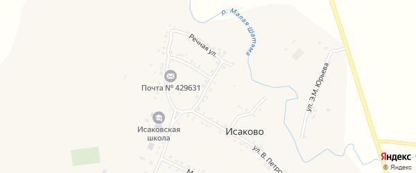 Улица Ленина на карте села Исаково с номерами домов