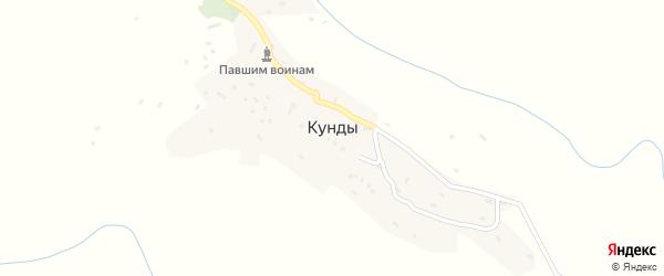 Рониковая улица на карте села Кунды Дагестана с номерами домов
