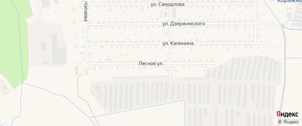 Лесная улица на карте Коряжмы с номерами домов