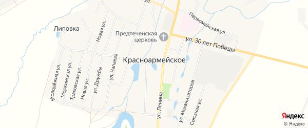 Карта Красноармейского села в Чувашии с улицами и номерами домов