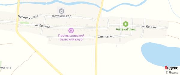 Степная улица на карте села Промысловки Астраханской области с номерами домов