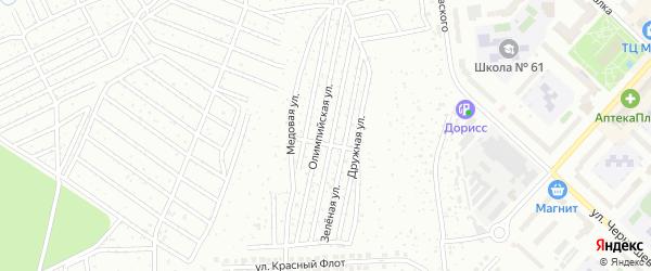 Территория сдт Олимпийский на карте Чебоксар с номерами домов