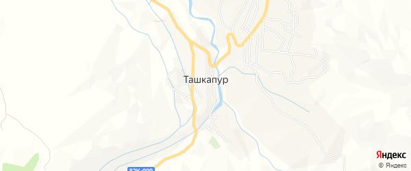 Карта села Ташкапура в Дагестане с улицами и номерами домов