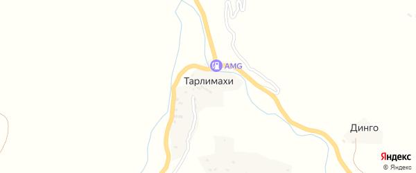 Школьная улица на карте села Тарлимахи Дагестана с номерами домов