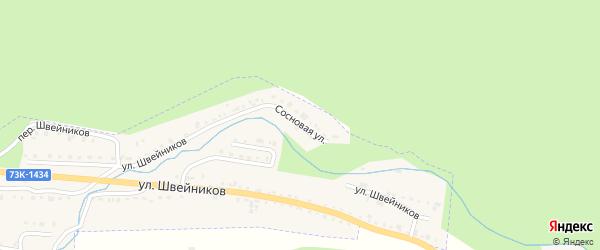 Сосновая улица на карте Барыша с номерами домов