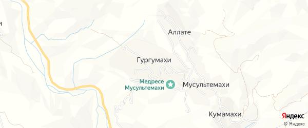 Карта хутора Гургумахи в Дагестане с улицами и номерами домов