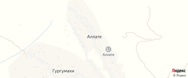 Улица М.Ильясова на карте хутора Аллате Дагестана с номерами домов