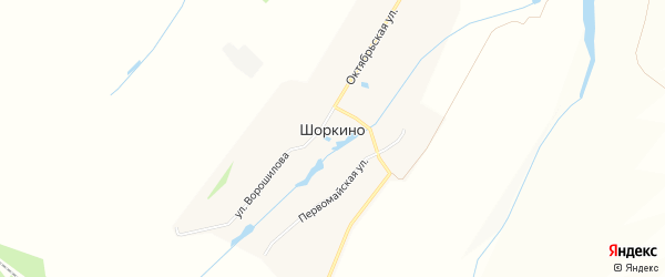 Карта деревни Шоркино в Чувашии с улицами и номерами домов