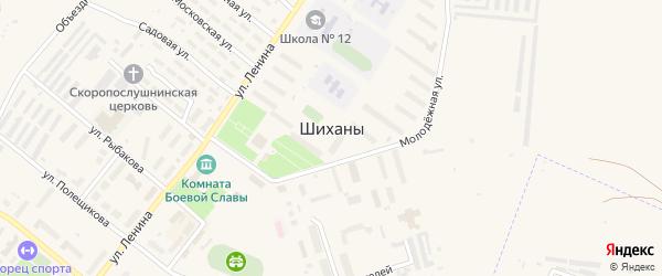 Территория УВСР на карте Шиханы с номерами домов