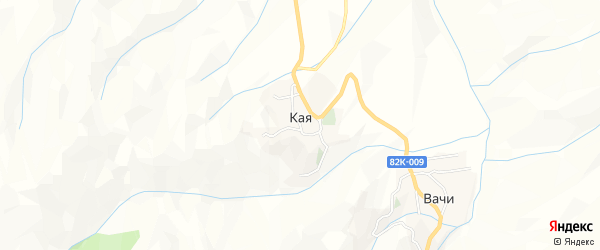 Карта села Кая в Дагестане с улицами и номерами домов