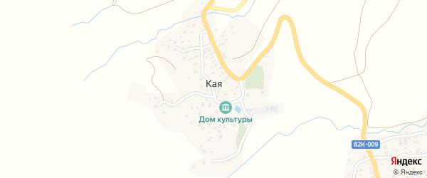 Улица Цахая Макаева на карте села Кая Дагестана с номерами домов
