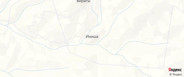 Карта села Иниши в Дагестане с улицами и номерами домов