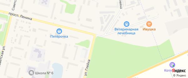 Улица Имени А.Г.Глейха на карте Коряжмы с номерами домов